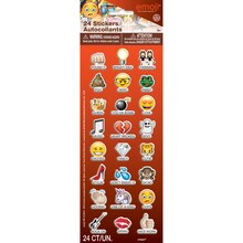 Puffy Emoji Sayings Stickers, 24ct