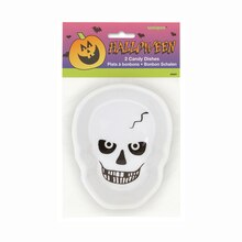 Plastic Skeleton Halloween Candy Dish, 2ct