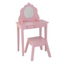 KidKraft Medium Diva Table & Stool, Pink