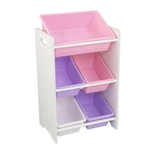 KidKraft 5 Bin Storage Unit, White