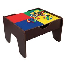 KidKraft 2 in 1 Activity Table with Board, Espresso