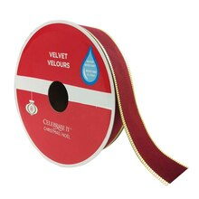 "Red Velvet Wired Christmas Ribbon By Celebrate It, 1.5"" x 40ft."
