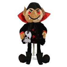 "35"" Lighted Standing Creepy Count Dracula Vampire Halloween Decoration"