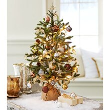 Silver and Gold Miniature Christmas Tree, medium