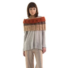 Lion Brand® Wool-Ease® Tonal Ribbed Knit Cowl, medium
