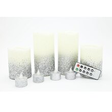 Ivory & Silver LED Christmas Candles By Ashland