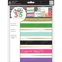 Create 365 The Classic Happy Planner Pocket Folders, Stay Happy