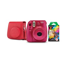 Fujifilm Instax Mini 8 Camera Bundle, Pomegranate Red