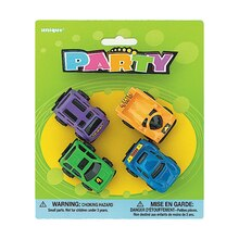Mini Race Car Party Favors, 4ct