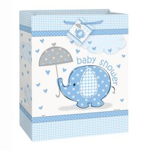 Large Blue Elephant Baby Shower Gift Bag