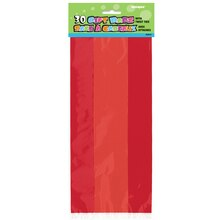 Red Cellophane Bags, 30ct