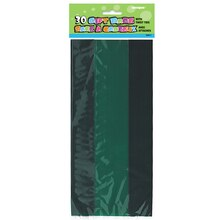 Forest Green Cellophane Bags, 30ct