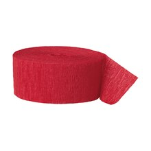 Crepe Paper Red Party Streamers, 81 Ft