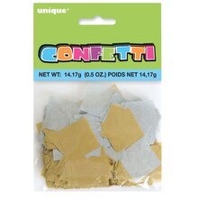 Square Silver And Gold Tissue Paper Confetti