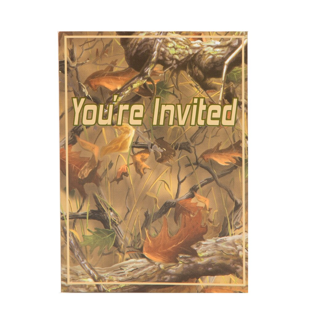 Hunting Camo Party Invitations | Camouflage Party Supplies