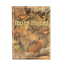Hunting Camo Invitations Front