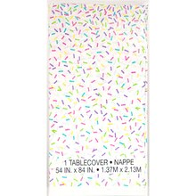 Rainbow Sprinkles Plastic Tablecloth Package