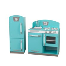KidKraft Blue Retro Kitchen and Refrigerator