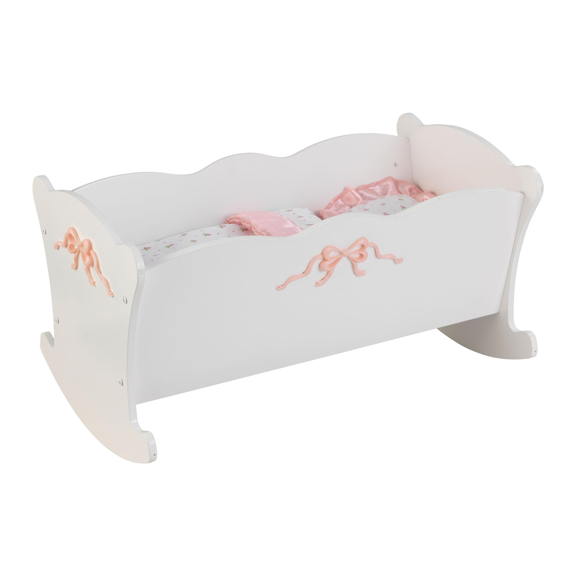 KidKraft Tiffany Bow Lilu0027 Doll Cradle With Bedding