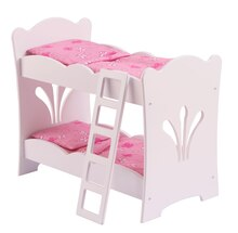 KidKraft Lil Doll Bunk Bed with Bedding