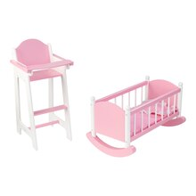 KidKraft Darling Doll Furniture Set, Pink