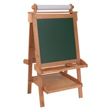 KidKraft Deluxe Wood Easel w/ Paper Roll, Natural