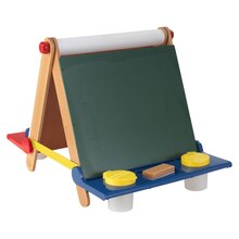 KidKraft Tabletop Easel, Natural with Primary