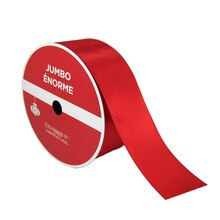 "Red Satin Jumbo Ribbon By Celebrate It, 2.5"" x 100ft."