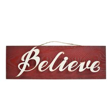Pinecone Lodge Red Believe Sign By Celebrate It