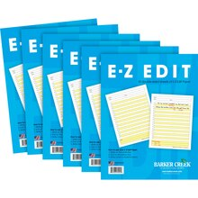 E-Z Edit Tablet, 6 Pack, medium