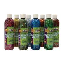 Glitter Chip Glue Assortment, 8 Pack