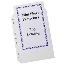 Mini-Size Top Loading Clear Poly Sheet Protectors