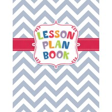 Chevron Lesson Plan Book, 3 Count