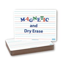 Magnetic Dry-Erase 2- Sided Board, Classpack of 12