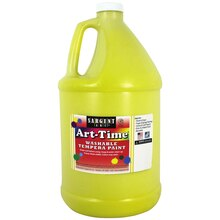Sargent Art Art-Time Washable Tempera Paint, Yellow/Spectral Yellow, Gallon