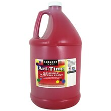 Sargent Art Art-Time Washable Tempera Paint, Red/Spectral Red, Gallon