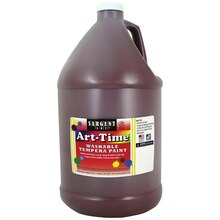 Sargent Art Art-Time Washable Tempera Paint, Brown, Gallon