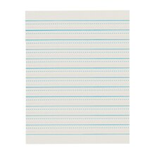 D'Nealian Ruled Handwriting Newsprint Paper, 5 Packs of 500