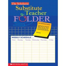 The Scholastic Substitute Teacher Folder, 10 Count