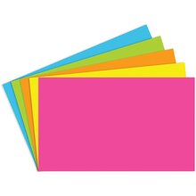 "3"" x 5"" Blank Index Cards, Brite Assortment"
