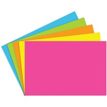 "4"" x 6"" Blank Index Cards, Brite Assortment"