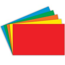 Index Cards Blank, Assorted Colors