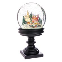 """11"""" Battery Operated Snow House Tree Snow Globe"""
