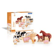 Guidecraft Wedgies Farm Set With Box