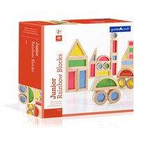 Guidecraft Jr. Rainbow Block 40 Piece Set Package