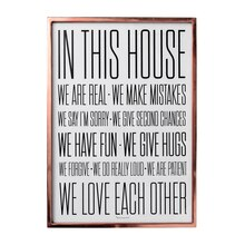 Bloomingville 'In This House' Wall Decor Accent