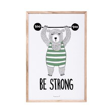 Bloomingville 'Be Strong' Bear Wall Decor Accent
