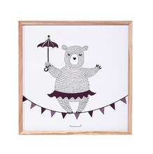 Bloomingville Dancing Bear Square Wall Decor Accent