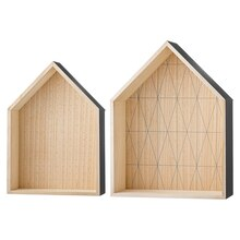 Bloomingville House-Shaped Display Boxes, Set of 2