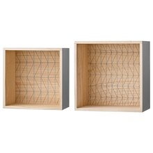Bloomingville Wooden Display Boxes, Set of 2